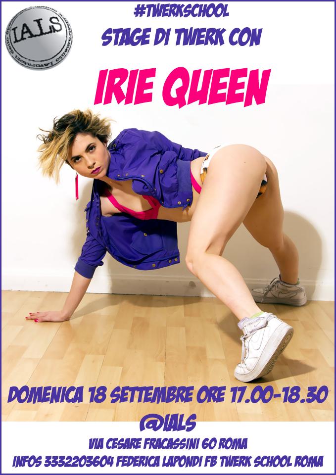 TWERKSCHOOL Stage di TWerk con Irie Queen (ESP)18.09.2016
