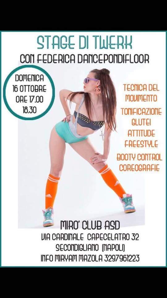 Stage di Twerk @Mirò Club Asd Secondigliano (Napoli)