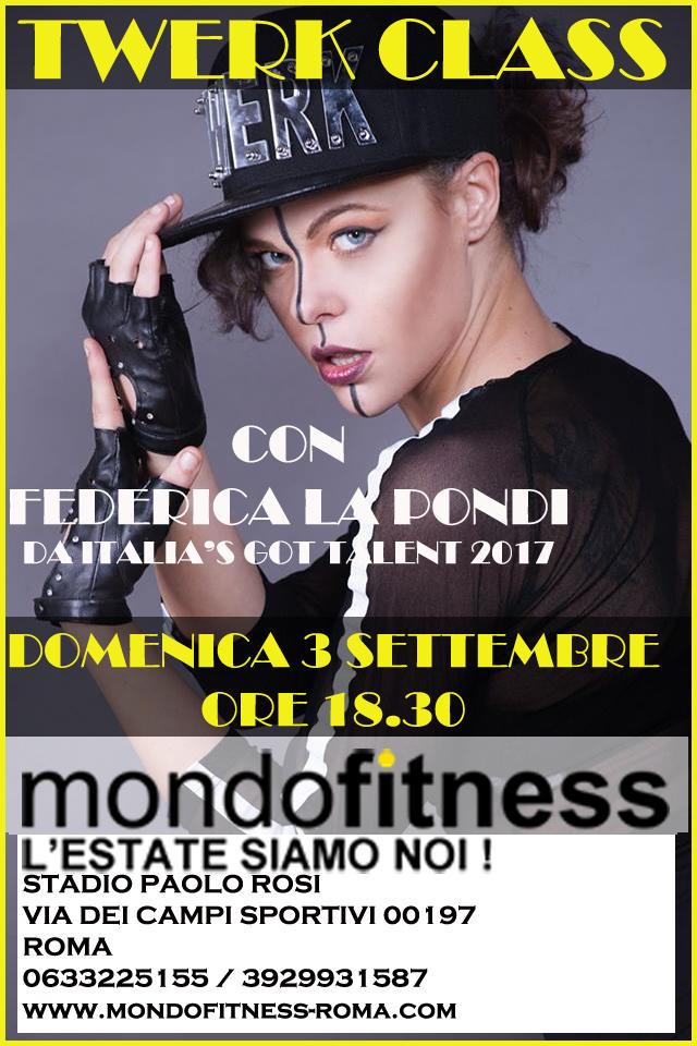 MondoFitness Roma – Twerk Class con FedericaLaPondi