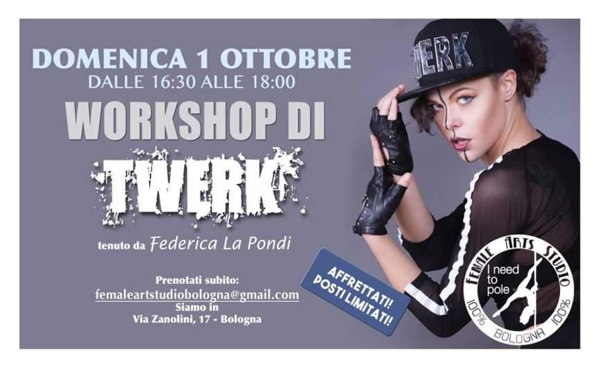 Twerk Workshop con Federica LaPondi @FemaleArtStudio Bologna