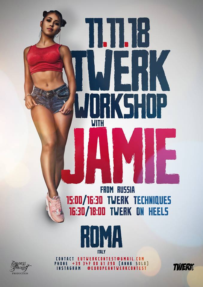 Twerk Workshop JAMIE (from Russia) a Roma