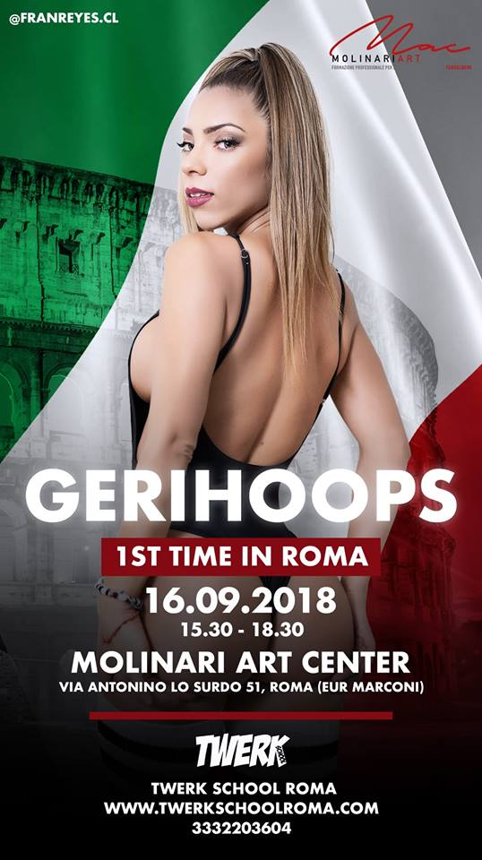 Geri Hoops Twerk Workshops Roma 16.09.2018